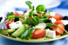 Salad with feta and tatsoi Royalty Free Stock Photos