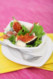 Salad with fig Royalty Free Stock Photos