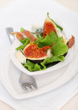 Salad with figs Stock Image