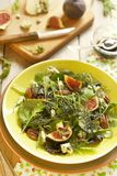 Salad with figs and cheese Stock Photo