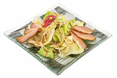 Salad fillet of duck Royalty Free Stock Photo