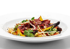 Salad with Fillet of Duck Breast Stock Photography