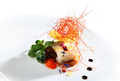 Salad  fish cod isolated Stock Photo