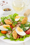 Salad with fish and egg Stock Photography