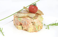 Salad and fish roe Stock Image