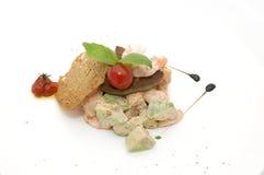 Salad and fish roe Royalty Free Stock Photography