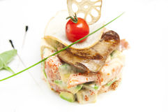 Salad and fish roe Stock Photo