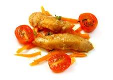 Salad of fish and tomato Stock Photo
