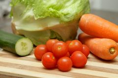 Salad fixings Stock Image