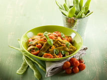 Salad with flat green beans Royalty Free Stock Photography