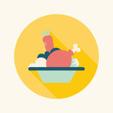 Salad flat icon with long shadow Royalty Free Stock Photography