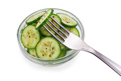 Salad fom cucumbers Royalty Free Stock Photography