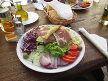 Salad. Food, table, meet, restaurant Stock Images