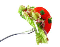 salad on a fork Stock Images