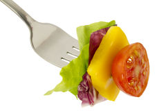 Salad And Fork Royalty Free Stock Photography