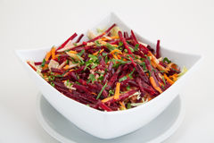 Salad of fresh beets and carrots Stock Photo