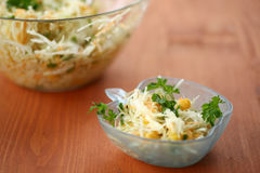 Salad with fresh cabbage Royalty Free Stock Photo