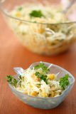 Salad with fresh cabbage stock photos