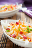 Salad with fresh cabbage with pomegranate Royalty Free Stock Images
