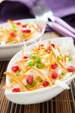 Salad with fresh cabbage with pomegranate seeds Stock Images