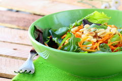 Salad of fresh carrots with pine Stock Images