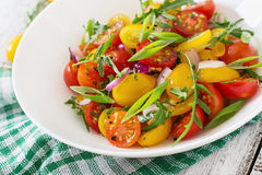 Salad of fresh cherry tomatoes Royalty Free Stock Photography