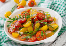 Salad of fresh cherry tomatoes Stock Images