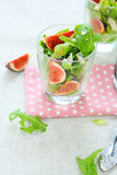 Salad with fresh figs and cheese Royalty Free Stock Photo
