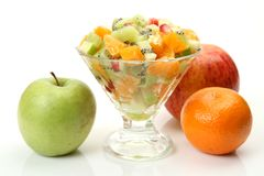 Salad from fresh fruit Royalty Free Stock Image