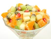 Salad from fresh fruit Stock Photography