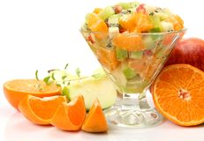 Salad from fresh fruit Stock Images