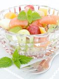 Salad with fresh fruits Stock Photo