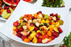 Salad with fresh fruits and berries. Bowl of healthy fresh fruit salad Royalty Free Stock Image