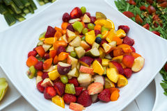 Salad with fresh fruits and berries. Bowl of healthy fresh fruit salad Stock Image