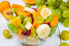 Salad of fresh fruits and berries Royalty Free Stock Image