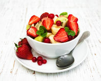 Salad with fresh fruits Royalty Free Stock Photo
