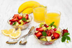 Salad with fresh fruits Stock Photography