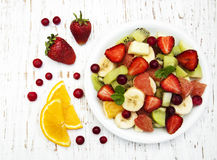 Salad with fresh fruits Stock Photos