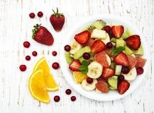Salad with fresh fruits Stock Photos