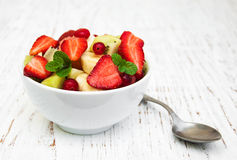 Salad with fresh fruits Stock Image
