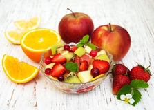 Salad with fresh fruits Royalty Free Stock Photos