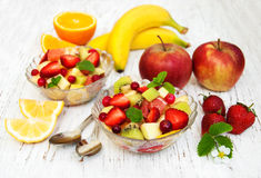 Salad with fresh fruits Royalty Free Stock Image