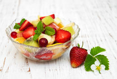 Salad with fresh fruits Royalty Free Stock Photography
