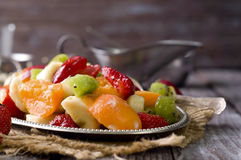 Salad with fresh fruits Stock Images