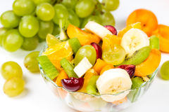 Salad of fresh fuits and berries Royalty Free Stock Photos