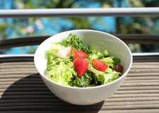 Salad. Fresh green salad it is good for diet and good health Royalty Free Stock Photo
