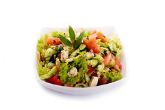 Salad from fresh green-stuffs Royalty Free Stock Photo