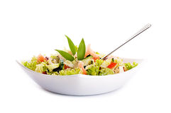 Salad from fresh green-stuffs and spic Stock Photo