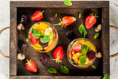 Salad of fresh organic fruits Stock Photography