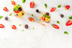 Salad of fresh organic fruits Royalty Free Stock Image
